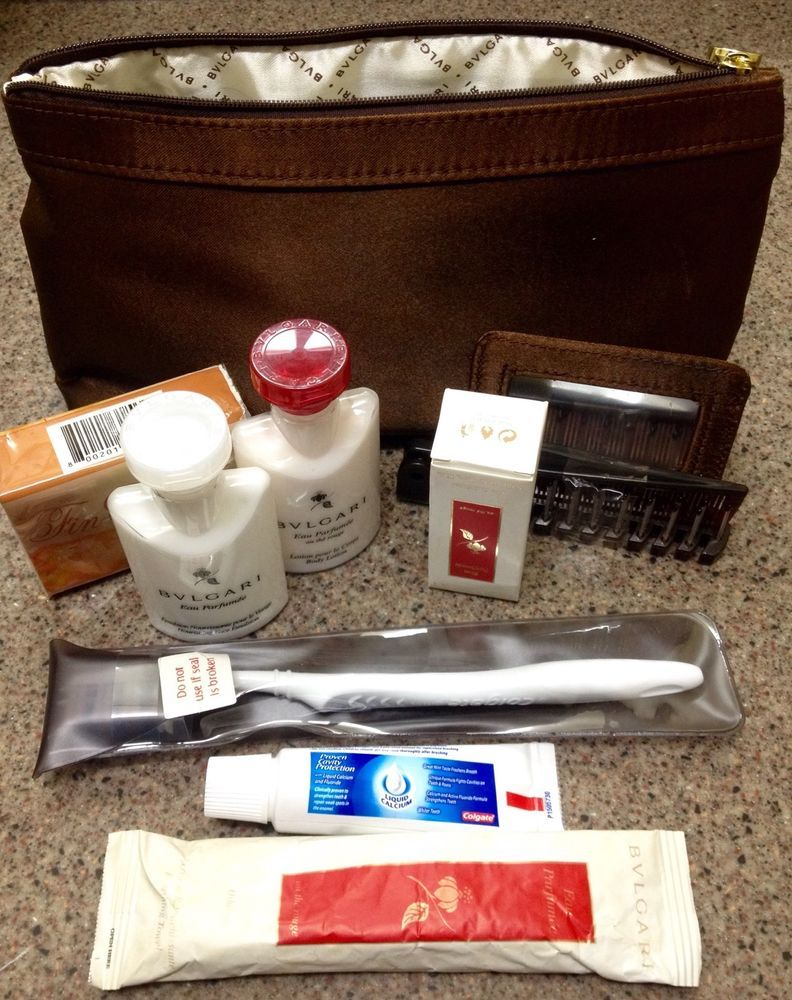 2015 Emirates First Class Bulgari Ladies Amenity Kit Amenity