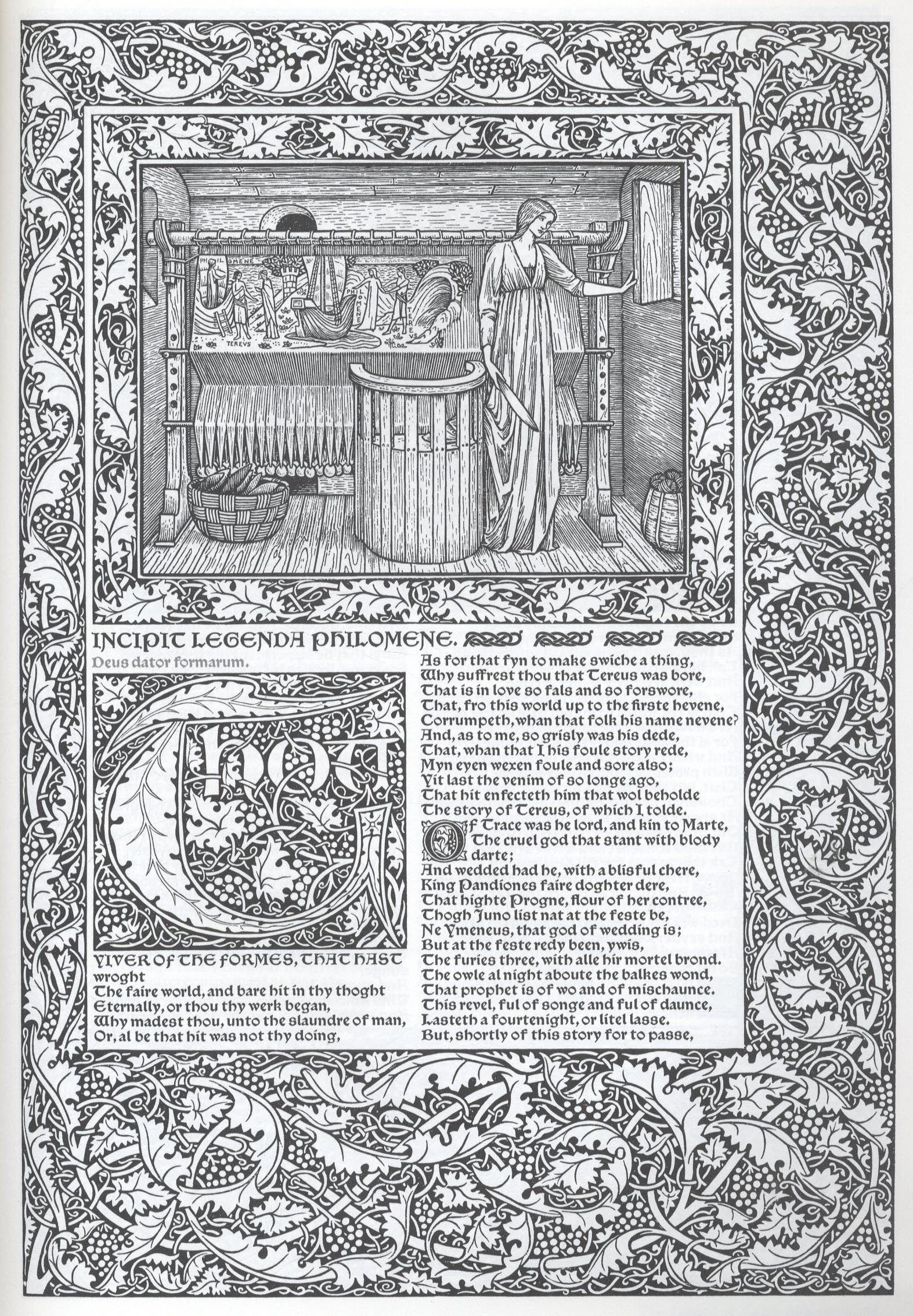 Alphabet of Illustrators-  Burne-Jones and William Morris - 1896.
