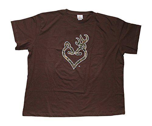 d04228af2 Browning Buckheart Camo Tshirt (Mossy Oak Logo) (XXX-Large, Brown /