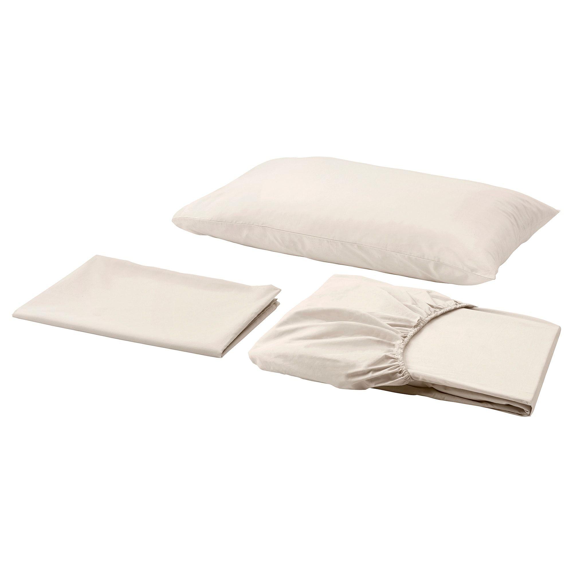 Ikea SÖmntuta Sheet Set Light Beige Products
