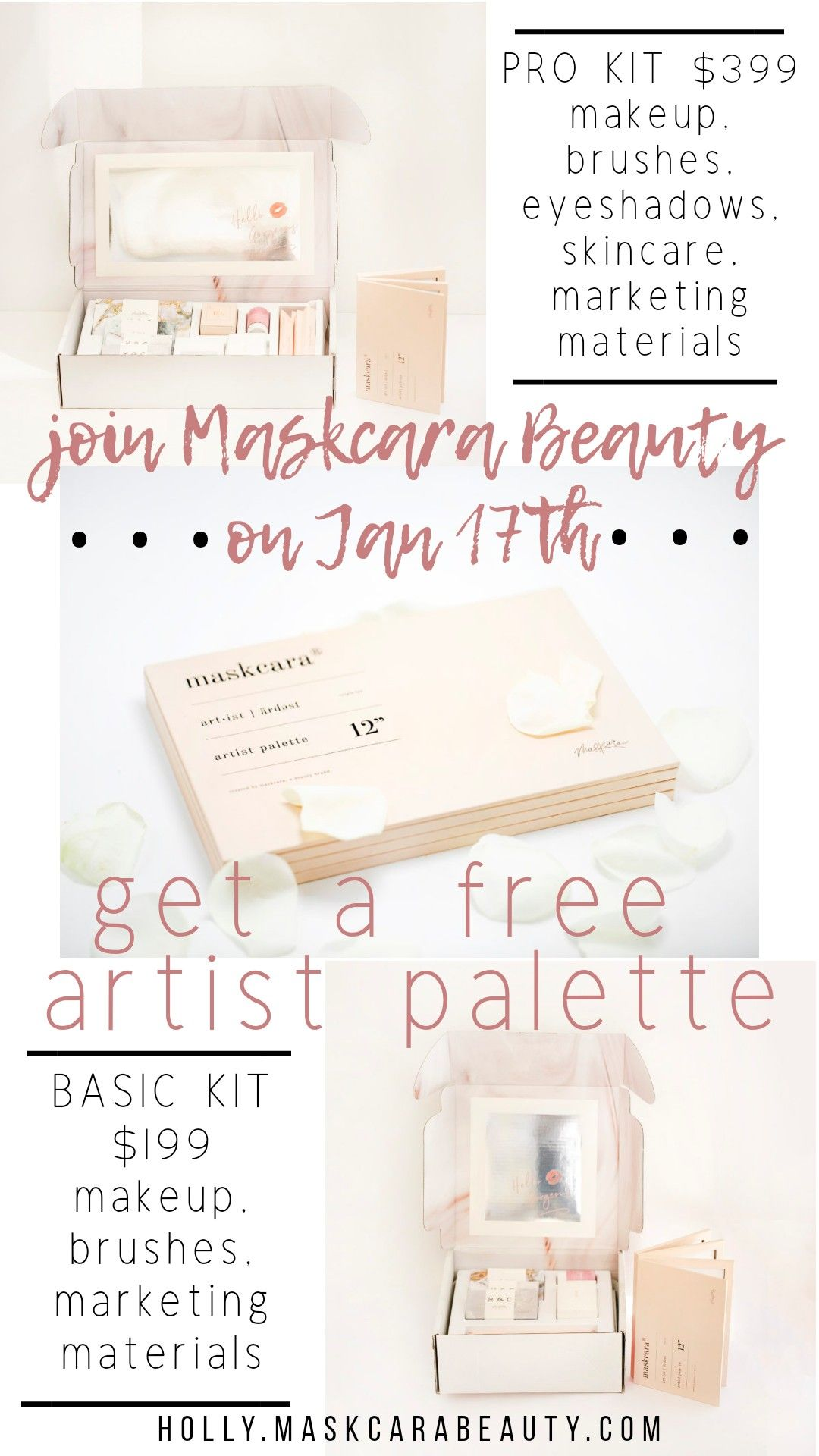 Maskcara Artist sign up incentive! On January 17th ONLY