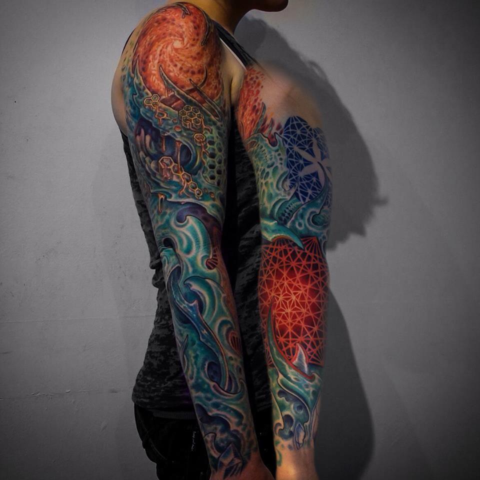0aaaaabe41e4f The Bold Geometry Of Corey Divine | Sleeve tattoos | Sacred geometry ...
