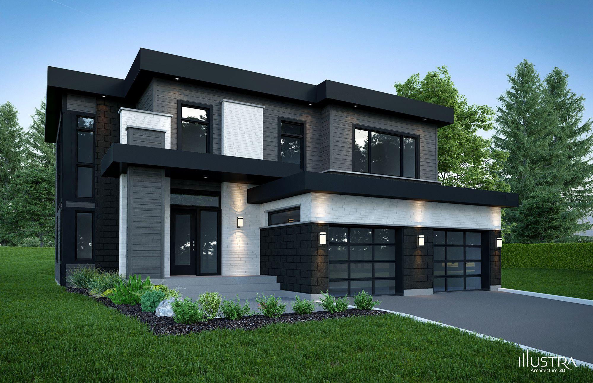 plan de maison 3d moderne