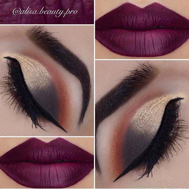 41 Stunning Fall Makeup Looks To Copy ASAP #fallmakeuplooks