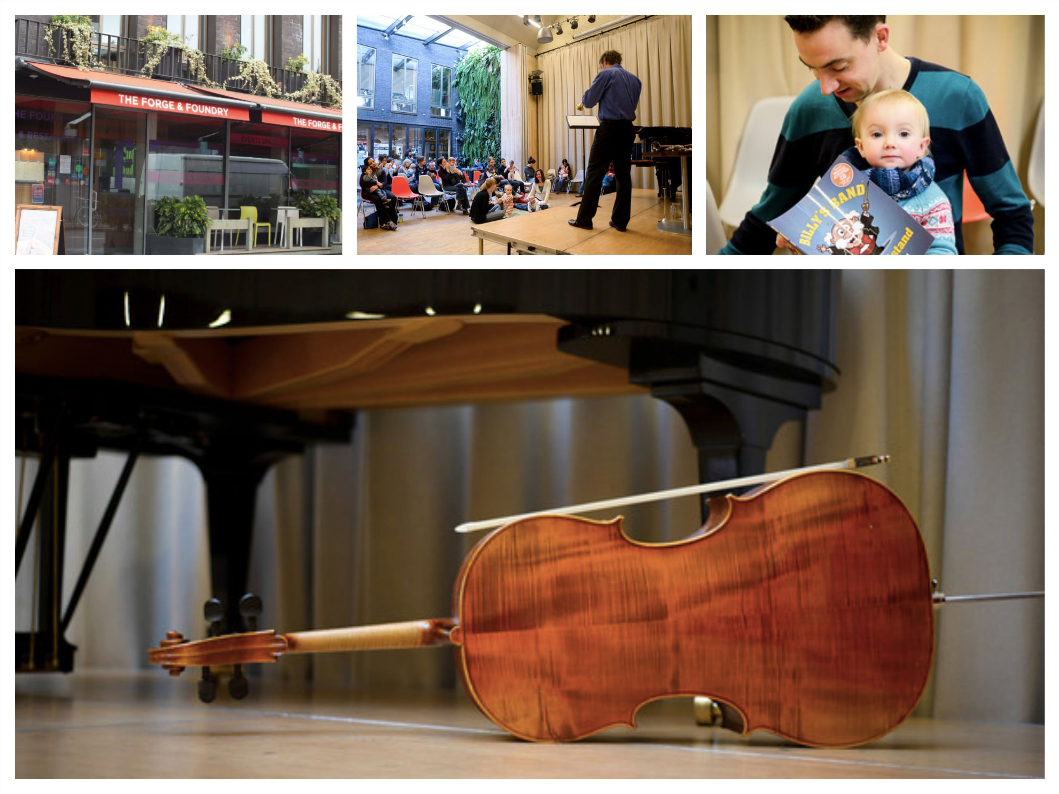 Bach to Baby concerts in Kentish Town, Camden at The Forge and Foundry.