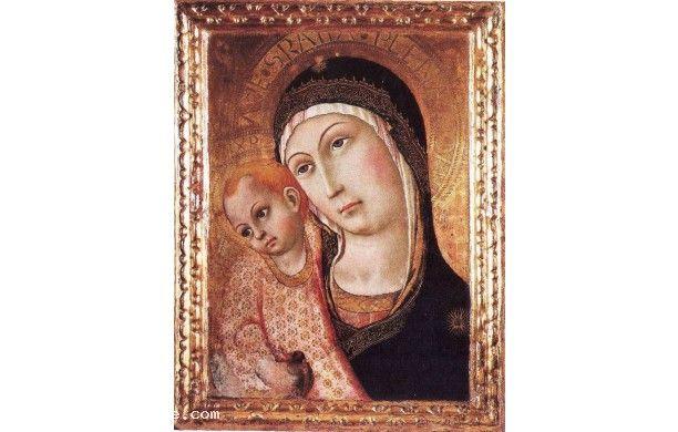 Madonna col Bambino detta del pilastro ( attorno al 1450 ), Sano di Pietro