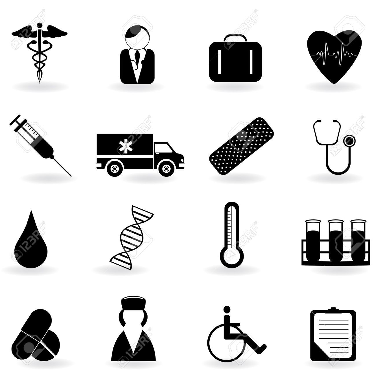 Stock Vector Health icon, Medical, Medical health care