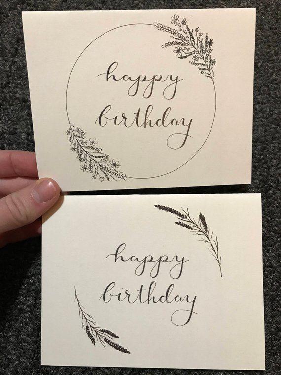 Photo of Gedruckte Happy Birthday-Karten – Hand Illustrated Design – Umweltfreundliche Grußkarten – Geschenk für Sie – Blumen – Moderne Blumen