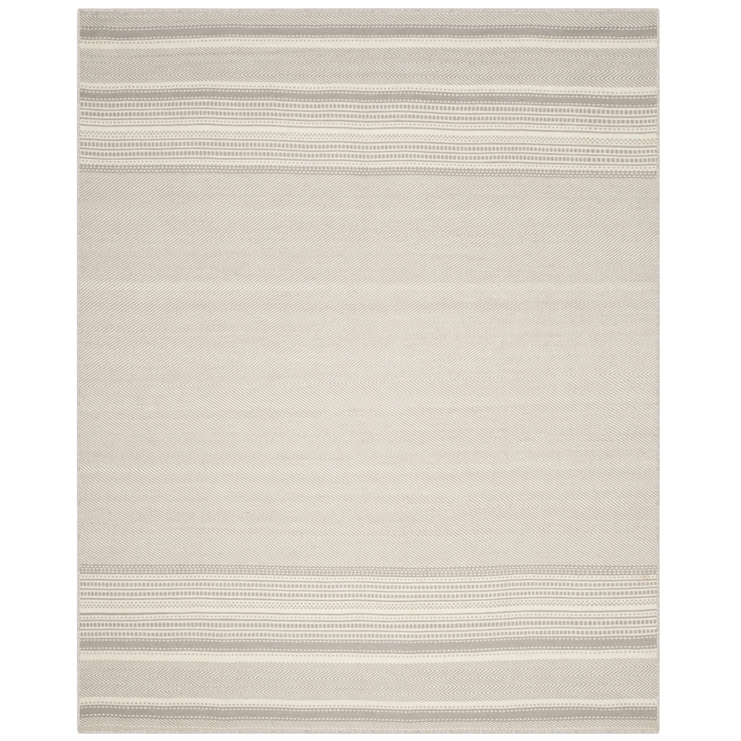 Safavieh Hand-Woven Kilim Grey/ Ivory Wool Rug (10' x 14') | Overstock.com Shopping - The Best Deals on 7x9 - 10x14 Rugs