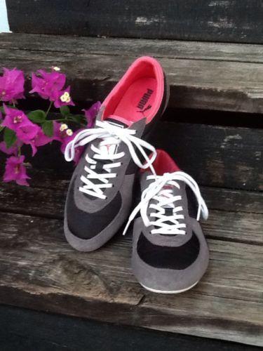 classic fit 40bc2 e45e9 Puma Sport Lifestyle Athletic Sneakers Blk Gry Pink Size Ladies 8.5 Mint L   K!