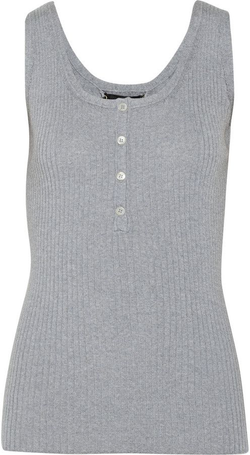 Burberry Ribbed wool tank on shopstyle.com