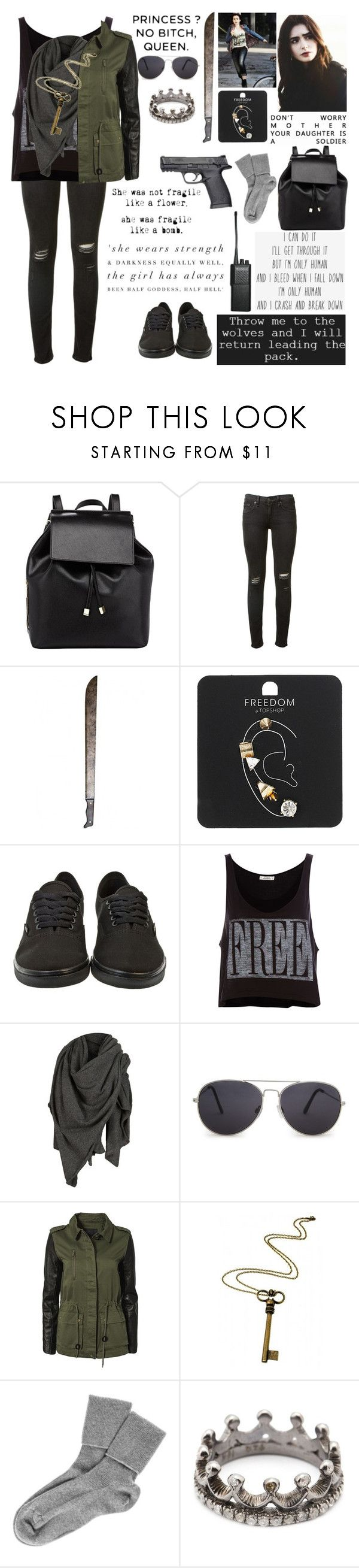 """""""Maddison Blake· The Walking Dead"""" by etiennemikaelson ❤ liked on Polyvore featuring Barneys New York, GET LOST, rag & bone, Motorola, L K, Topshop, Vans, Pull&Bear, AllSaints and MANGO"""