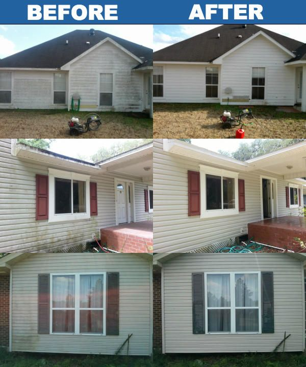White Wash Brick Exterior Before And After Curb Appeal
