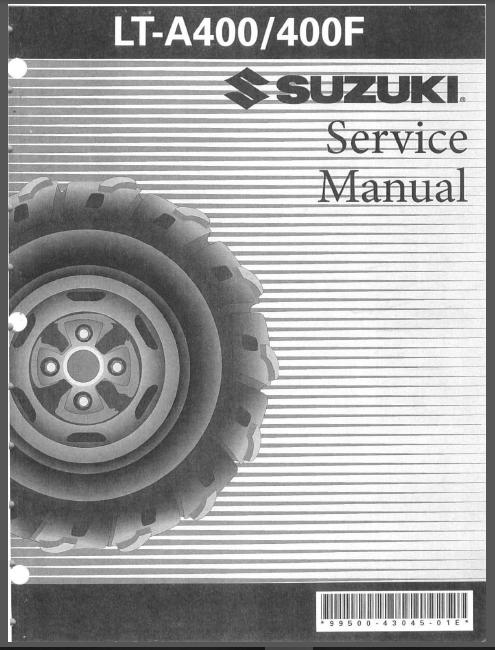 Suzuki Lt A400k3 Lt A400fk3 2003 Service Repair Manual Pdf Download In 2020 Repair Manuals Manual Repair
