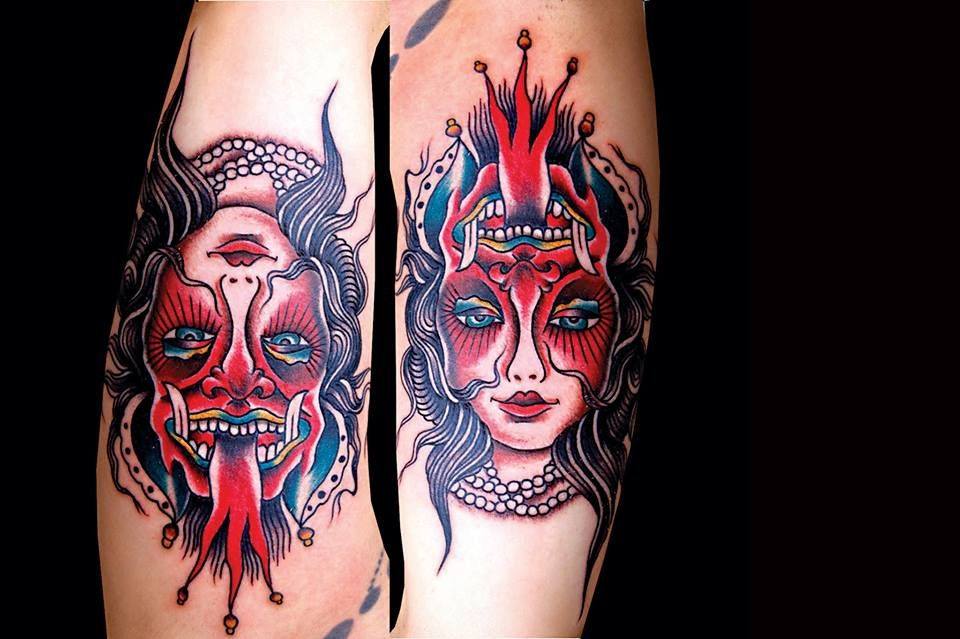 Two-faced tattoo by Diego Brandi Perfect tattoo to represent the two ...