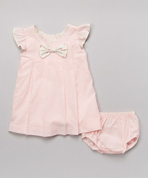 Take a look at the Pink Angel-Sleeve Top & Diaper Cover - Infant on #zulily today!