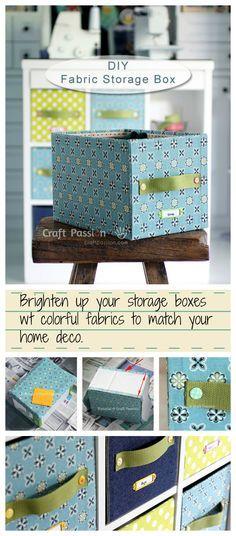 Decorative Fabric Storage Boxes Fabric Storage Box  Diy Tutorial  Fabric Storage Boxes Carton