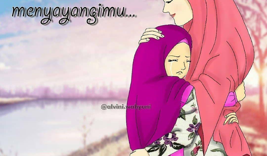 28 Foto Kartun Ibu Dan Anak Muslimah Pada Suatu Malam Jesica Kecil Menghampiri Ibunya Yg Sedang Download Gambar Kartun Ibu Dan Ana Di 2020 Kartun Gambar Lucu Anak