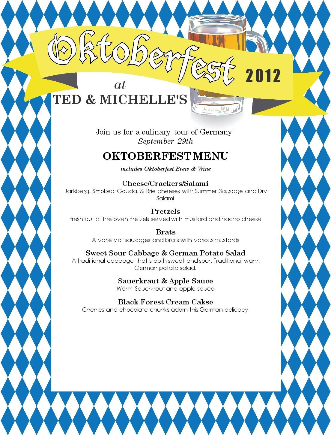 Oktoberfest Menu Ideas Food