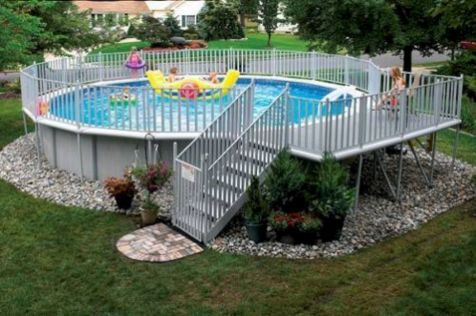 111 Clever Ways Diy Above Ground Pool Ideas On A Budget Above Ground Pool Landscaping Pool Landscaping Above Ground Swimming Pools