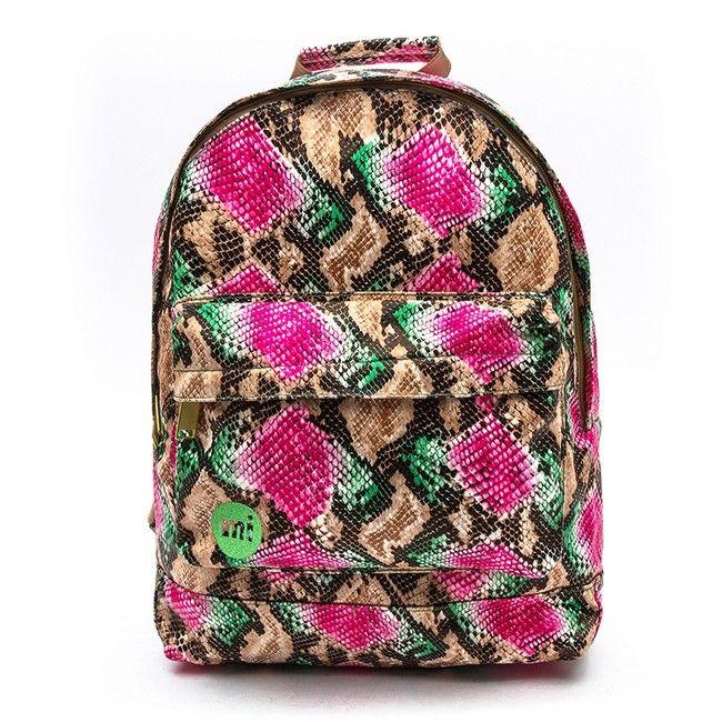 Mi-Pac Gold Rattlesnake Backpack - Green/Pink - High Quality Designer