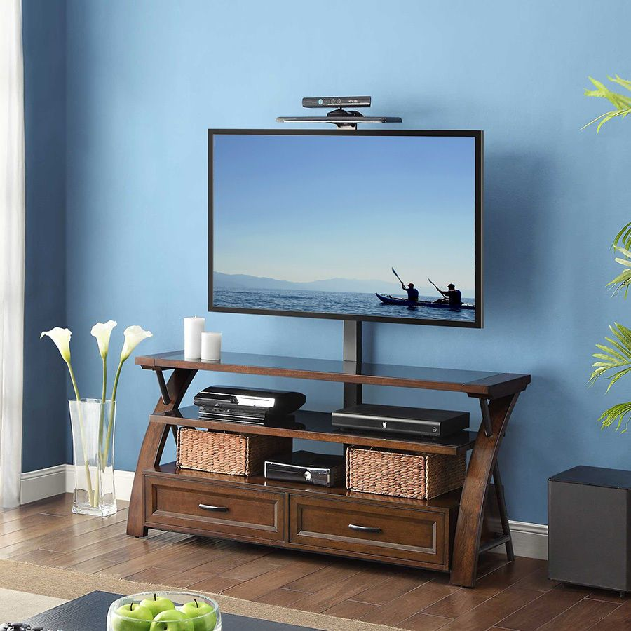 Bayside Furnishings 3 In 1 Flat Panel Tv Stand For Up To