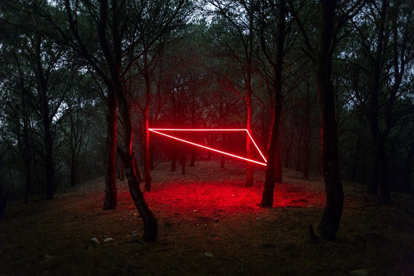 dubbed la lnea roja the red line these captivating light installations by paris based nicolas rivals explore the mans connection to nature - Captivating Light Installation Artists
