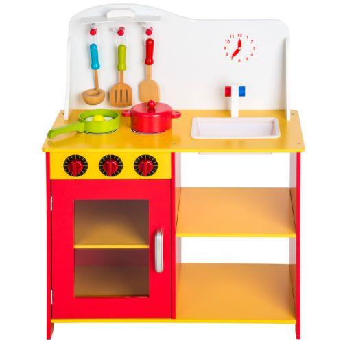 Cocina de madera de juguete para niños juguete juego de rol toy ...