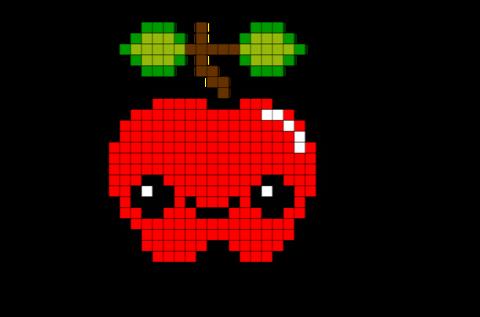 Apple Bead Pixel Art Pixel Art Fruit Pixel Art Et Pixel