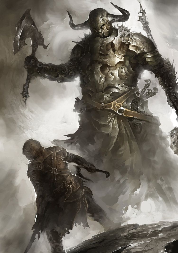 Goliath (Biblical) (Boss) - A big dumb giant that terrorizes a small village and demands gold from them. It's the first boss you encounter in the game.