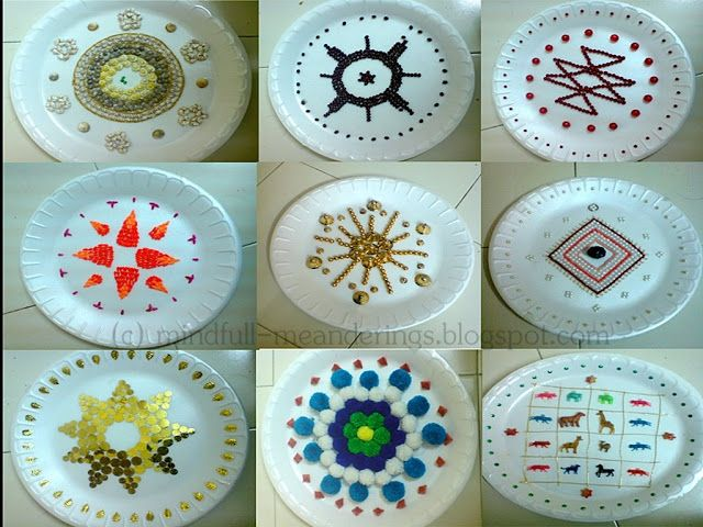 Thermocol Aarthi Plates Thermocol Craft Crafts Paper Plate Crafts