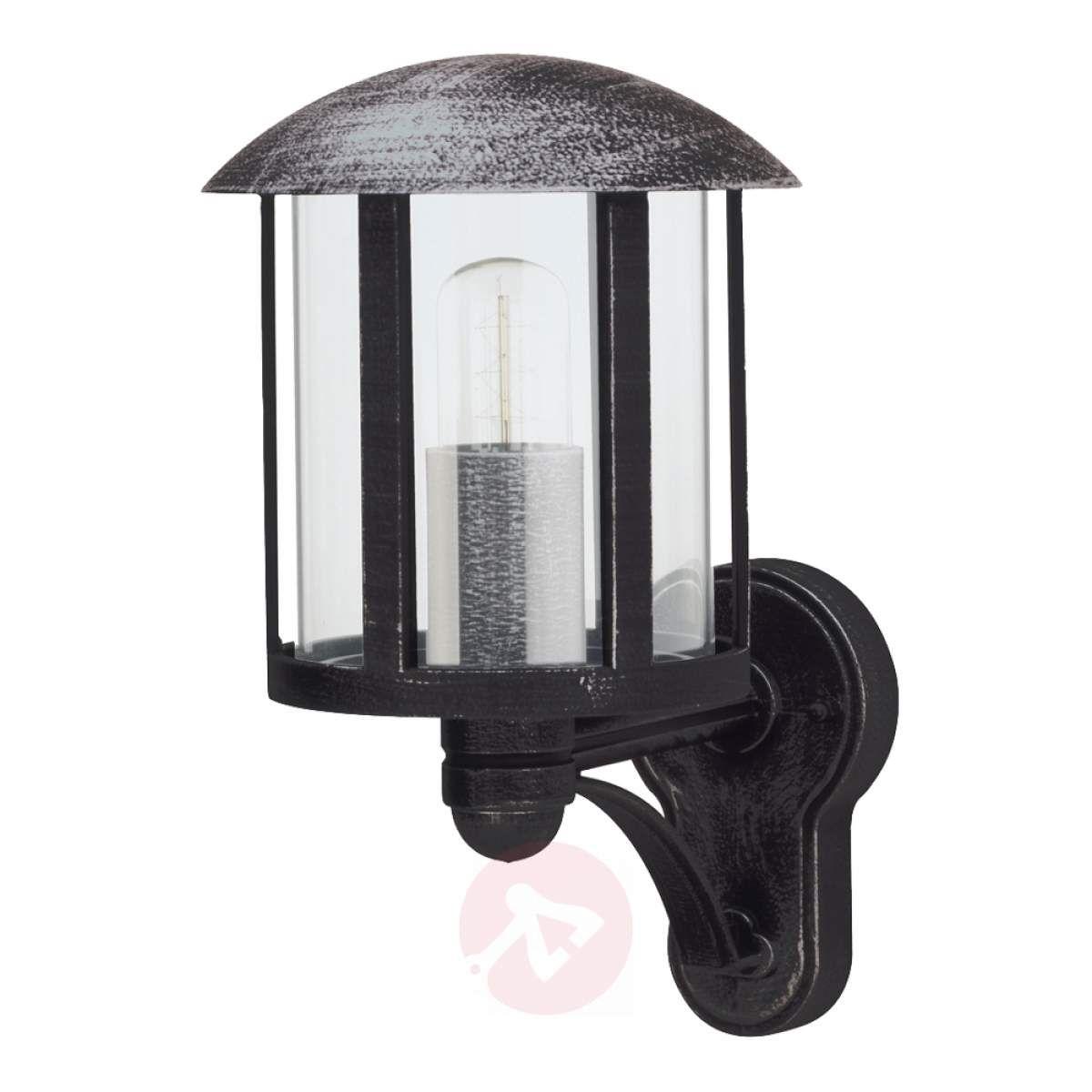 Zewnętrzna Lampa ścienna Genefe Czarna Lampy Wiszące