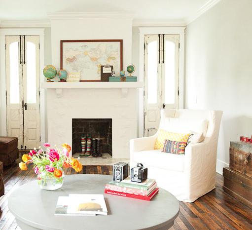 Bradford Project Living Room Reclaimed Wood Floor Skinny French