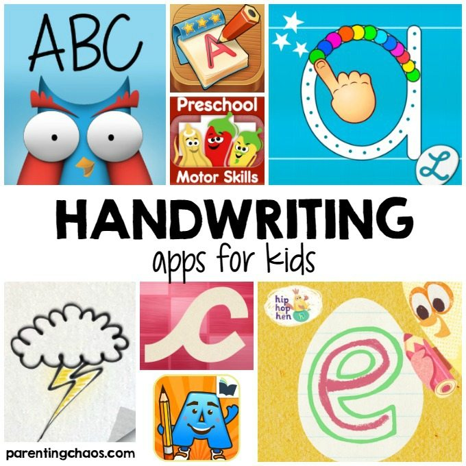 Handwriting Apps for Kids ⋆ Parenting Chaos in 2020 Kids