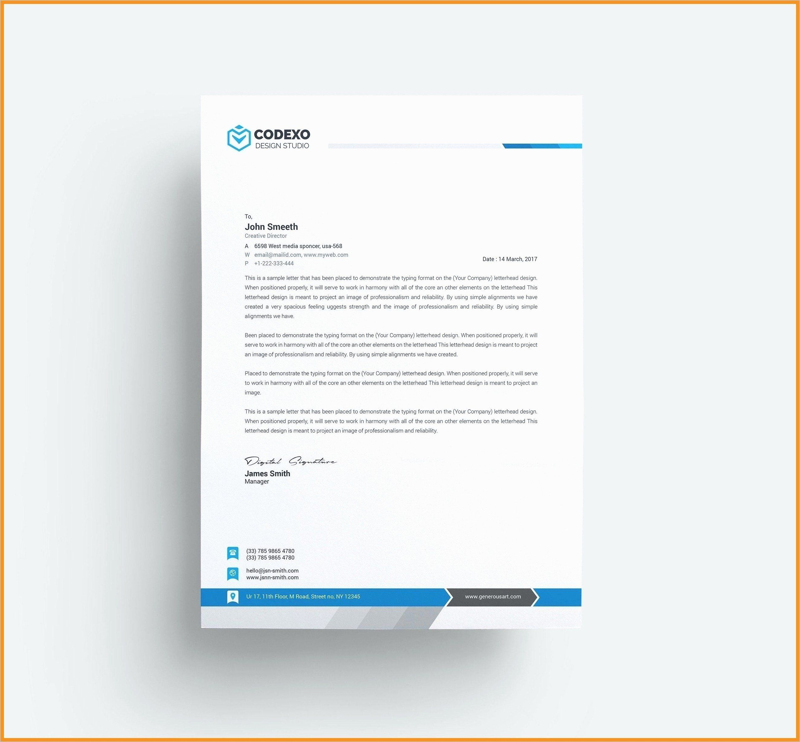 Free Letter Heading Template Beautiful Professional
