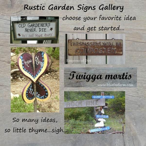 Rustic Garden Signs Gallery Get Your Favorite Garden Sign Ideas