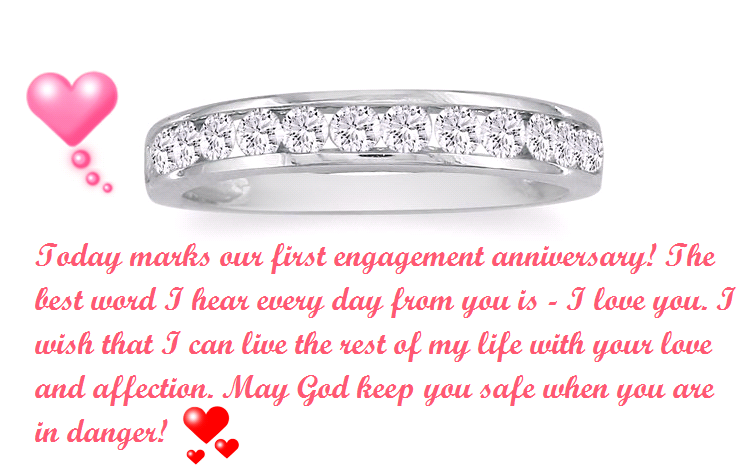 Happy 1st Engagement Anniversary Status For Fiance And Wife Love