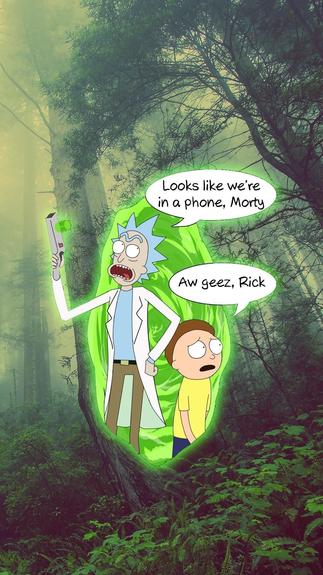 Image Result For Rick And Morty Wallpaper Iphone Rick En Morty Achtergrond Iphone Achtergronden