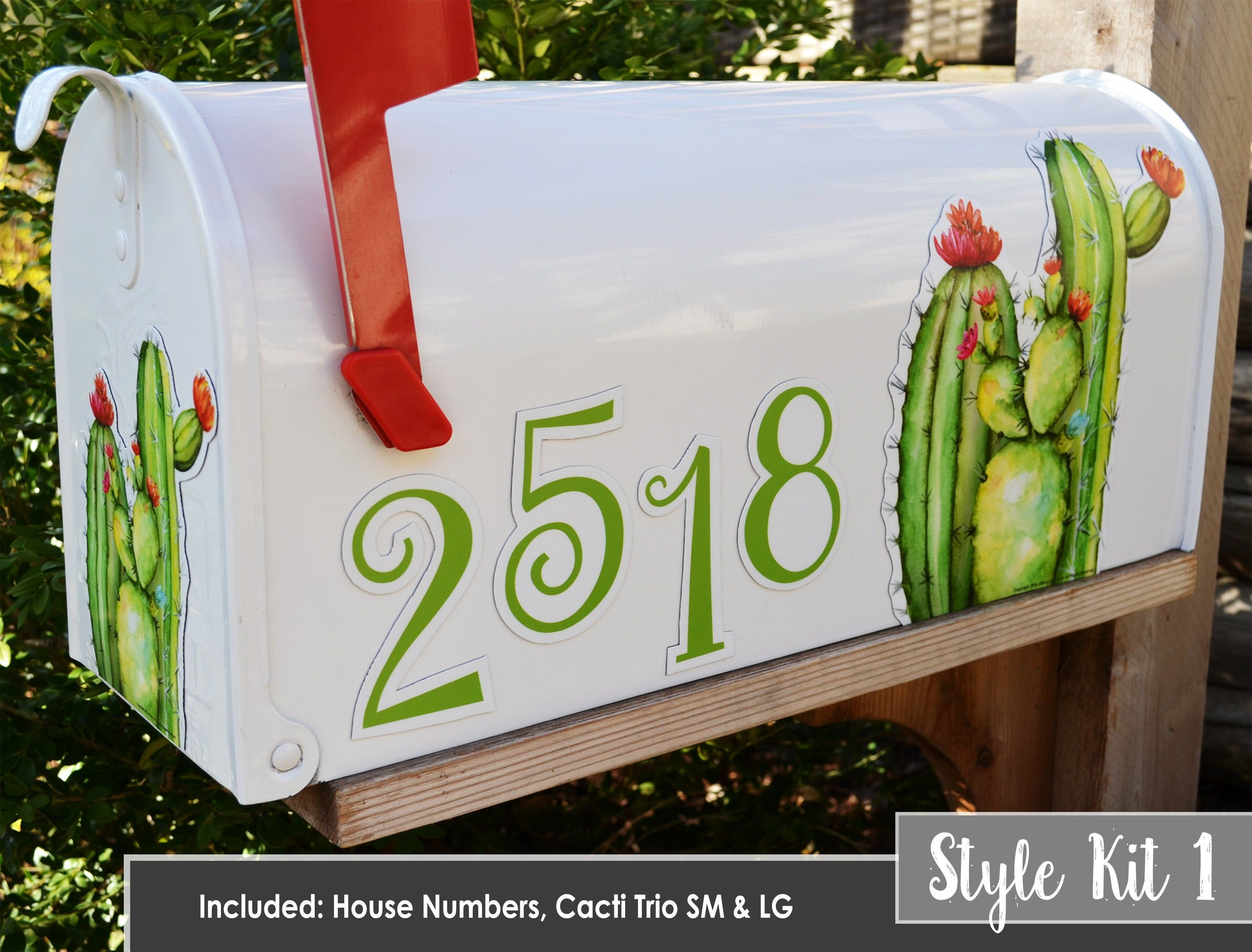Magnetic Mailbox Cover Magnet Cactus Decor Flower Cacti Cactuses Desert Southwest Prickly Pear Custom House Or Mailbox Numbers Mail Box Car Painted Mailboxes Unique Magnets Magnetic Mailbox Covers