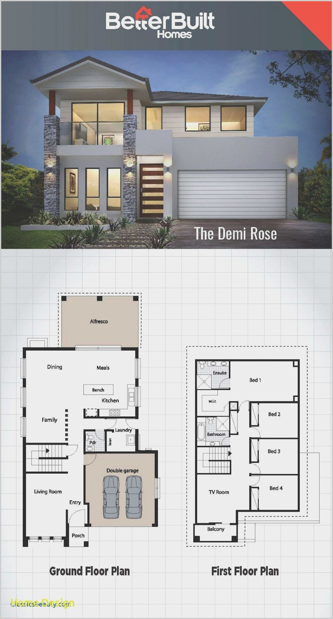 3 Bedroom House Architectural Design in 2020 | House ...