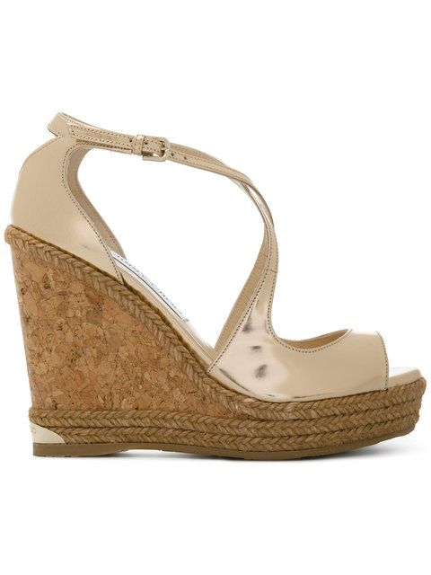 ef0accb4ac JIMMY CHOO Dakota wedge sandals. #jimmychoo #shoes #sandals | Jimmy ...