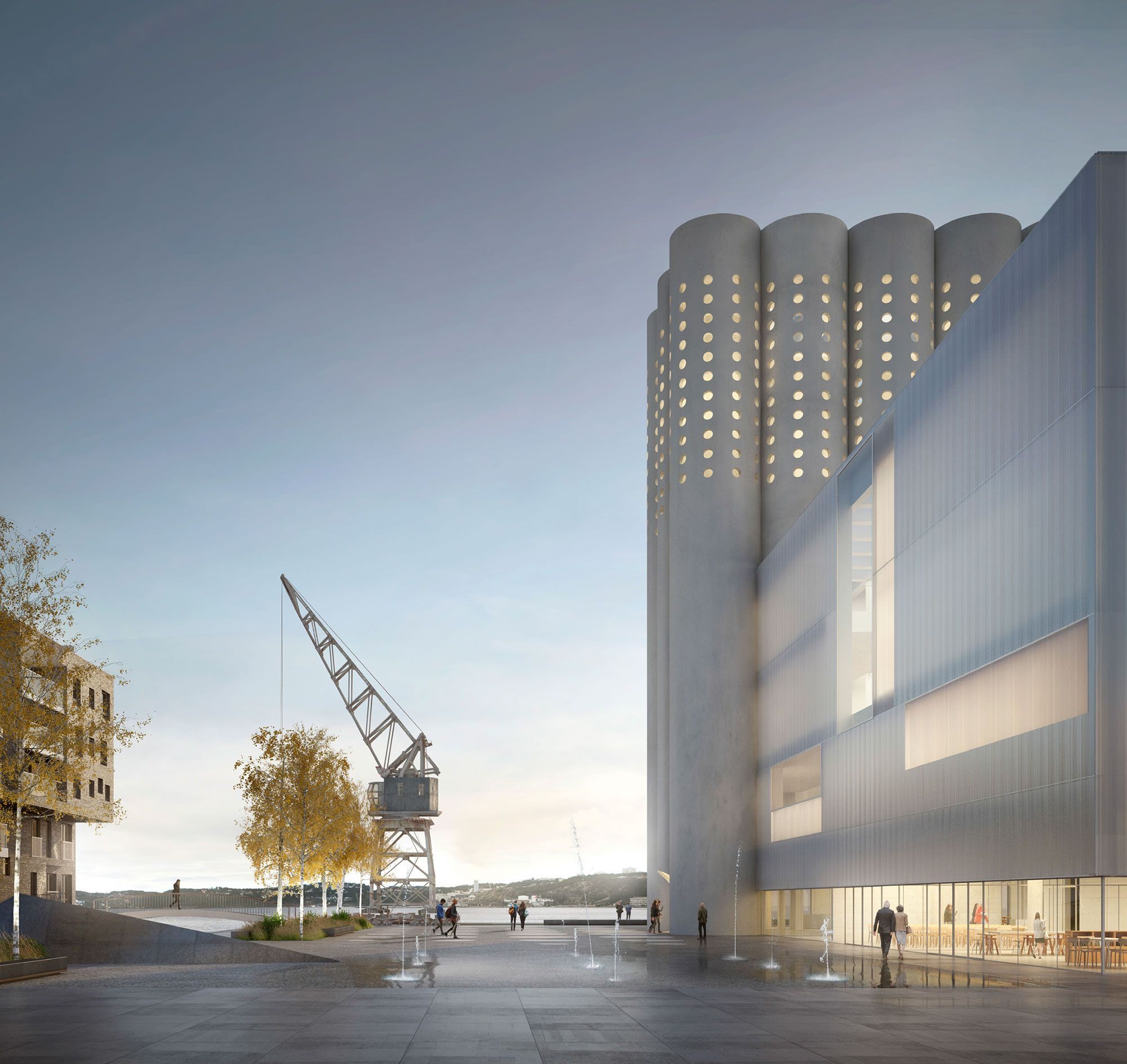 Modern Architecture Render gallery of hassell unveil design for geelong performing arts
