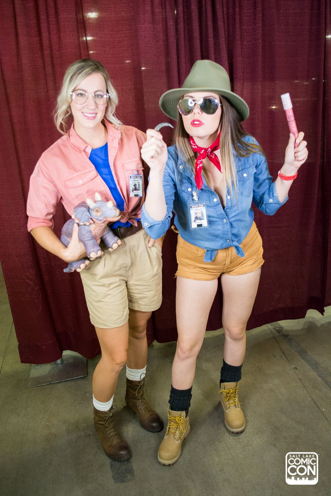 Jurassic Park Costumes Cosplay At Salt Lake Comic Con 2016