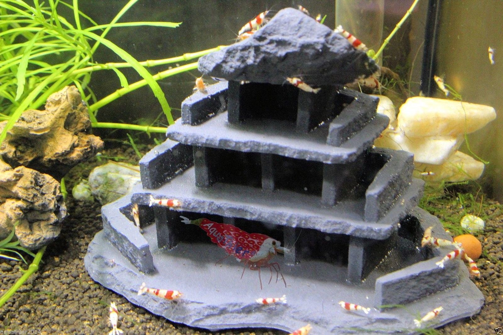 Garnelen Hotel - Midi Stone - Wels Höhle Haus - Deko - Aquarium - AquaThier   eBay