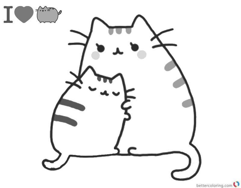 Get These Pusheen Coloring Pages And Have Fun With It Free Coloring Sheets Pusheen Coloring Pages Cute Coloring Pages Free Kids Coloring Pages