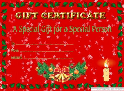 Christmas Gift Certificate Template At WwwClevercertificatesCom