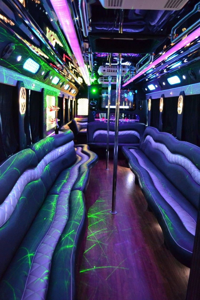 When The Stress Of Transportation Becomes Too Much Contact Blue Streak Limousine We Offer Party Bus And Other Limo Services T Party Bus Party Bus Rental Limo