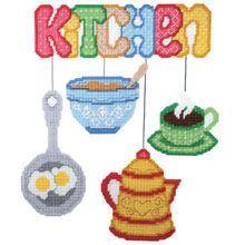 Kitchen Wall Hanging-Plastic Canvas Kit: On my to-get list, I want this in my kitchen! ;)