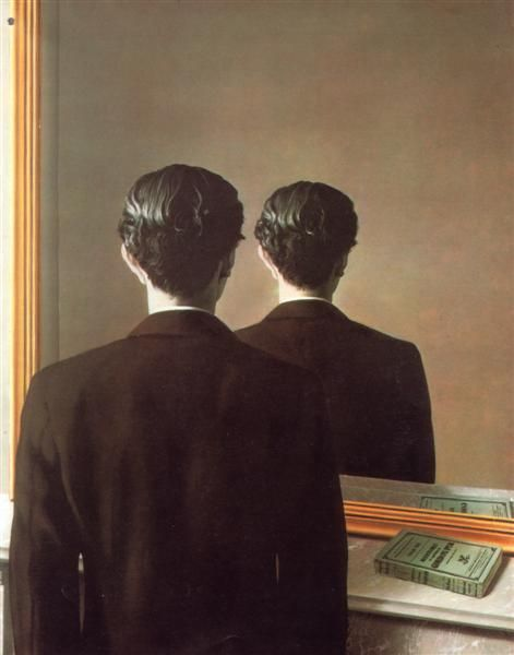 Not to be Reproduced (La reproduction interdite, 1937) by the Belgian surrealist René Magritte