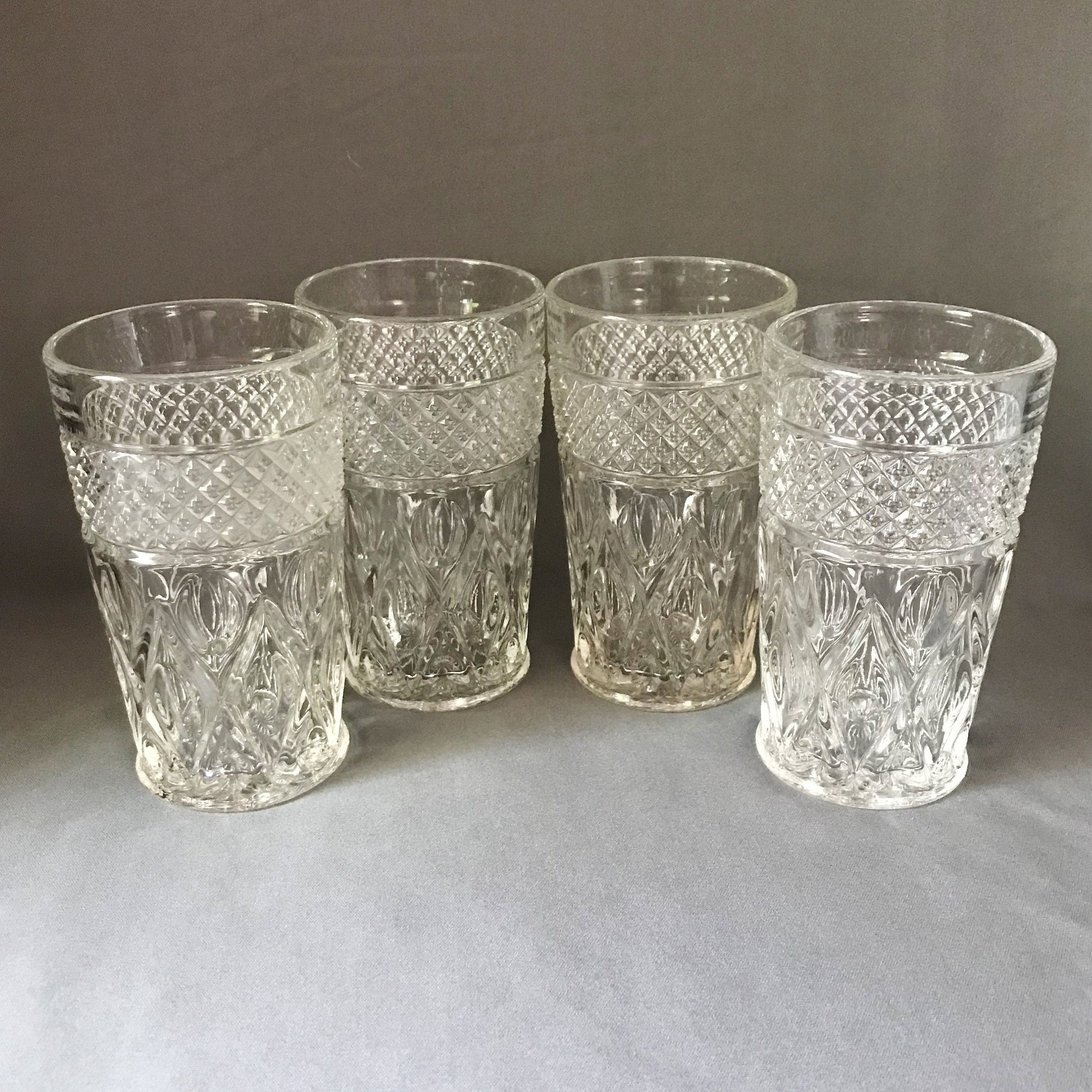 Set Of 4 Cape Cod Tumblers 10 Oz Vintage Ice Tea Glasses Highball Tumblers Imperial Glass Ohio Imperial Glass Tea Glasses Iced Tea Glasses